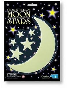 Luna y estrellas florescentes
