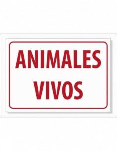 PEGATINA TRANSPORTE ANIMALES VIVOS