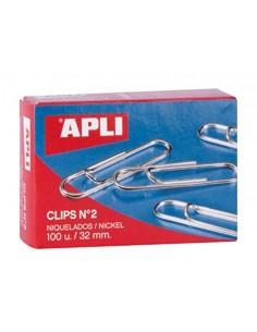 Paq/100 clip niquelados nº...