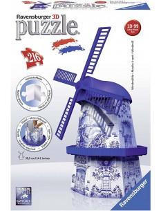Puzzles 3D Molino Holandés-...