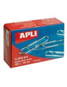 Caja 100 clip niquel nº 3 -...