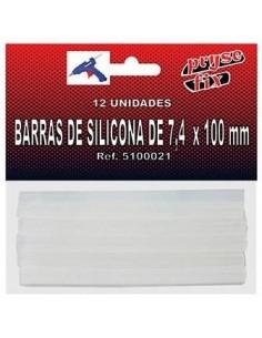 Paq/12 Barras silicona...