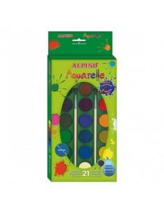 Caja 21 Acuarelas Alpino -...