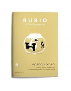 Cuaderno operaciones Rubio 6
