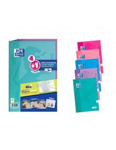 PAQ/ 4+1 Cuadernos espiral...