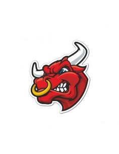 Pegatina de vinilo toro rojo