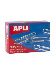 C/100 clip niquel nº 1/2 26 mm