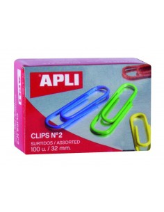 C/100 Clips colores, 32 mm....